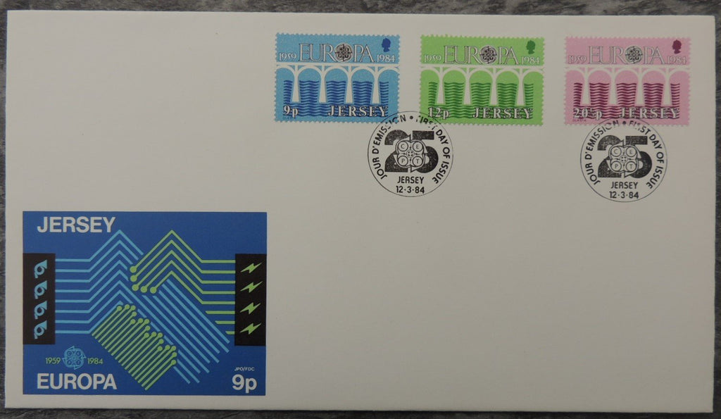 Jersey 1984 Europa FDC 3 values