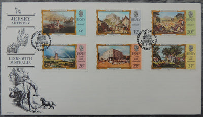 Jersey 1984 Paintings (fifth series) FDC Links with Australia