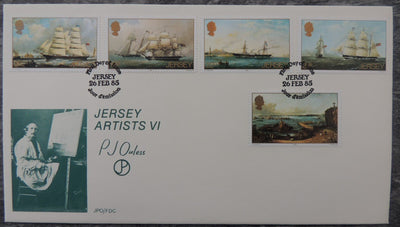 Jersey 1985 Paintings (sixth series) Ouless FDC 5 values