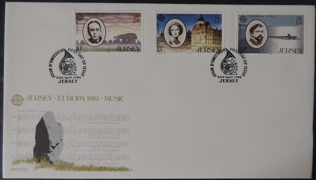 Jersey 1985 Europa Music Year FDC 3 values