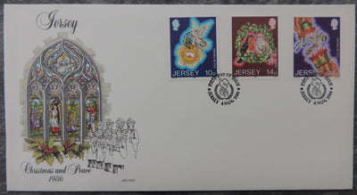 Jersey 1986 Christmas FDC 3 values