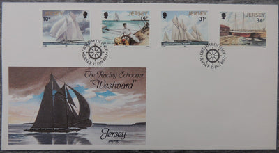 Jersey 1987 Sailing FDC 4 values