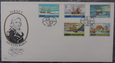 Jersey 1987 Adventurers D'Auvergne FDC 5 values