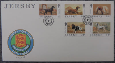 Jersey 1988 Dogs FDC 5 values