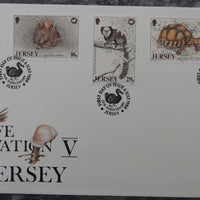 Jersey 1988 Wildlife preservation FDC 5 values SG447-451 FDC