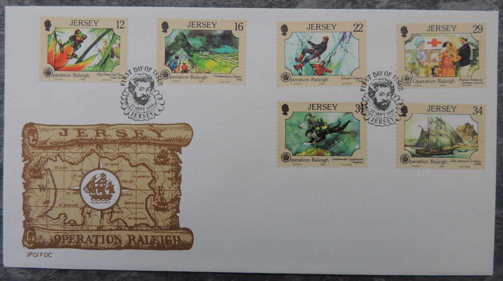 Jersey 1988 Operation Raleigh FDC 6 values