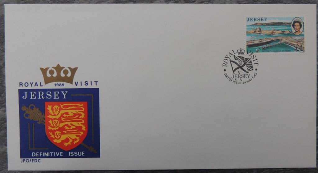 Jersey 1989 Royal Visit FDC 1 value £1
