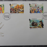 Jersey 1989 French revolution FDC 6 values