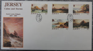 Jersey 1989 Storms and Calms FDC 5 values