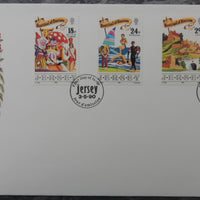Jersey 1990 Festival of Tourism FDC 4 values