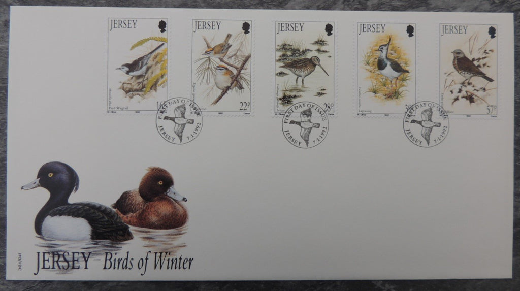 Jersey 1992 Winter Birds  FDC 5 values