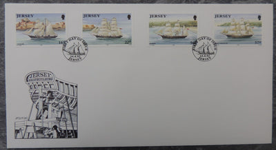 Jersey 1992 Shipbuilding FDC 4 values