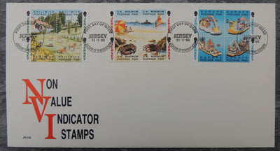 Jersey 1993 Booklet Stamps FDC non value indicator stamps