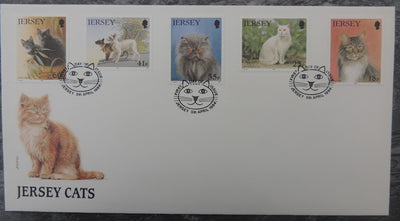 Jersey 1994 Cat Club FDC 5 values