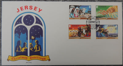 Jersey 1994 Christmas FDC 4 values