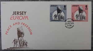 Jersey 1995 Europa Peace and Freedom FDC 2 values