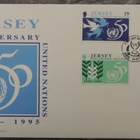 Jersey 1995 United Nations FDC 4 values