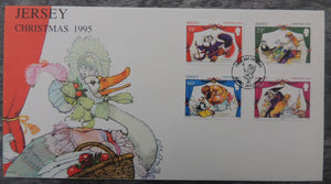 Jersey 1995 Christmas Pantomimes FDC 4 values