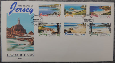 Jersey 1996 Tourism Beaches FDC 6 values