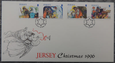 Jersey 1996 Christmas FDC 4 values