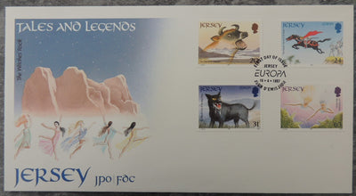 Jersey 1997 Europa Tales and Legends FDC 5 values