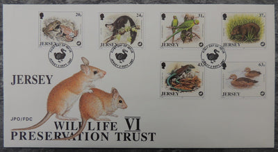 Jersey 1997 Wildlife preservation trust FDC 6 values