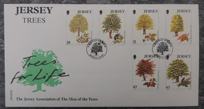 Jersey 1997 Trees FDC 6 values