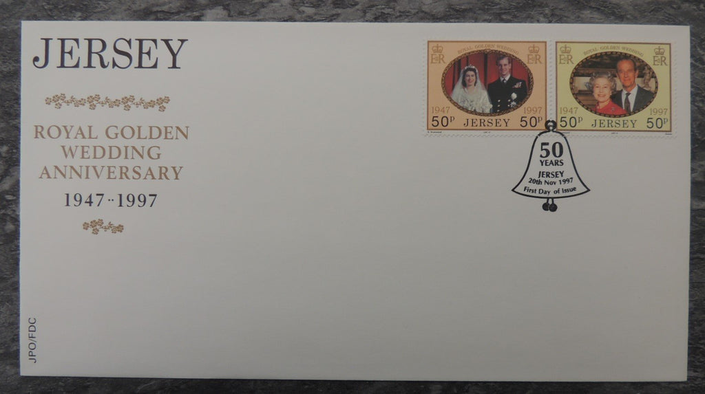 Jersey 1998 Golden Royal Wedding FDC 2 values