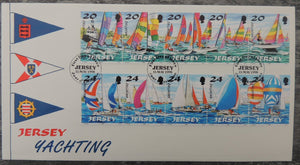 Jersey 1998 Yachting FDC 10  values