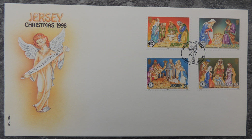Jersey 1998 Christmas FDC 4 values