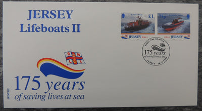 Jersey 1999 175th Anniversary of the National Lifeboat Institution FDC 4 values