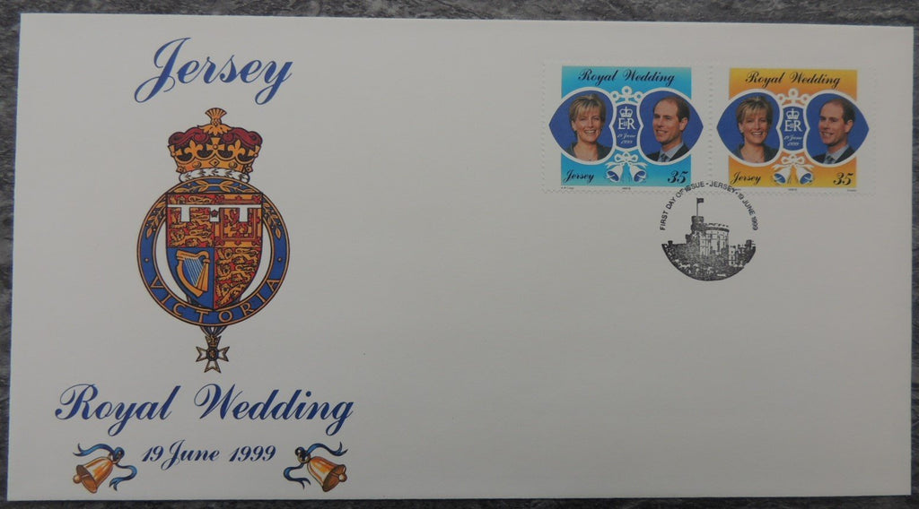 Jersey 1999 Royal Wedding FDC 2 values