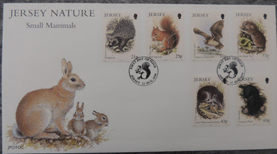 Jersey 1999 Small Mammals FDC 6 values