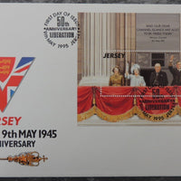 Jersey 1994 50th Anniversary Liberation FDC miniature sheet