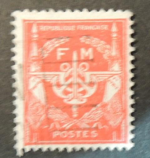 France 1954? Franchise Militaire #2 FM good used
