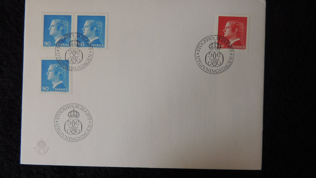 Sweden 1975 FDC king carl xvi gustaf definitive royalty