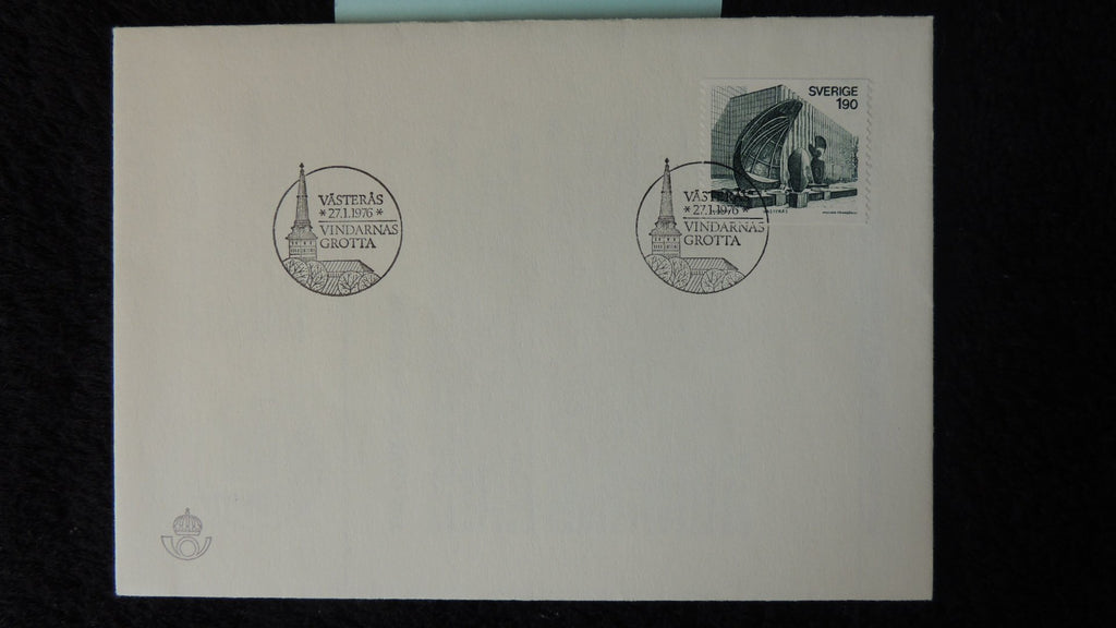 Sweden 1976 FDC the cave of the winds art architecture