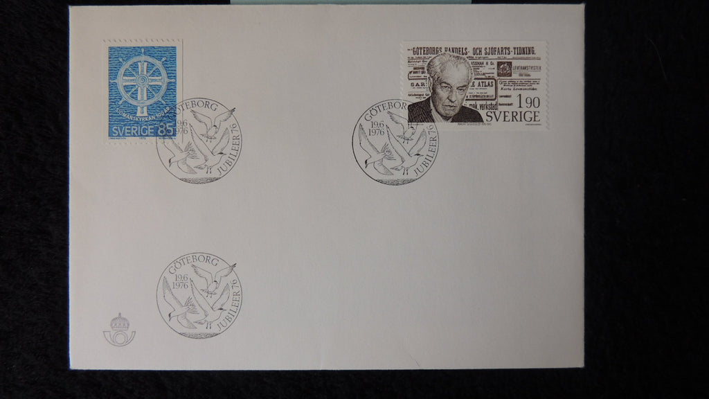 Sweden 1976 FDC seamens church religion birth centenary Torgny Segerstedt newspaper editor