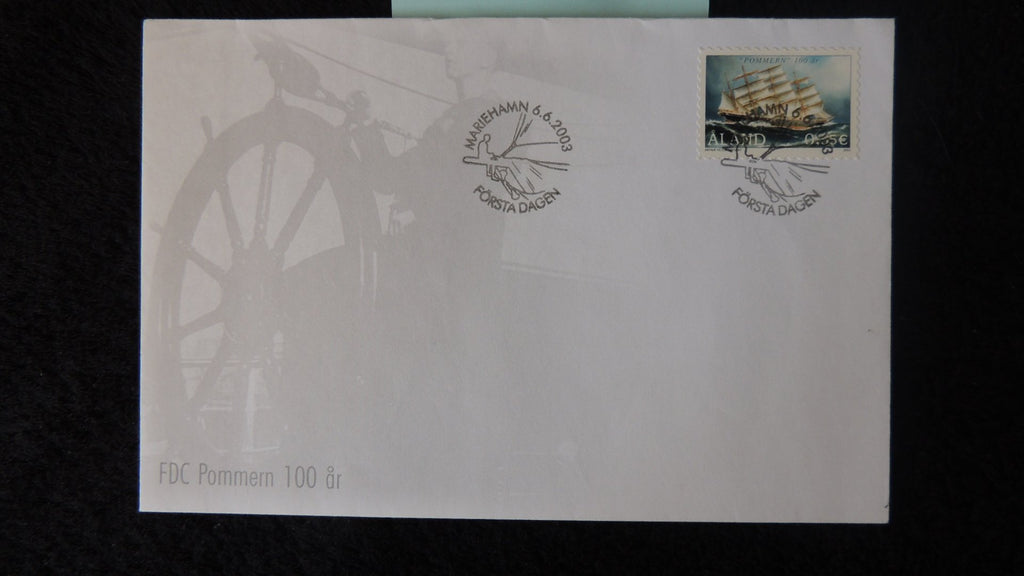 Finland Aland 2003 FDC museum ship pommern