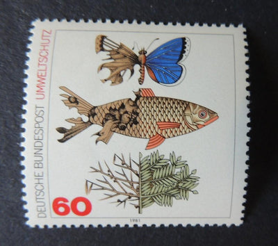 Germany 1981 environment protection fish butterflies sg1951 mnh