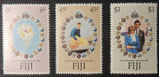 Fiji 1981 royal wedding 3 value set MNH