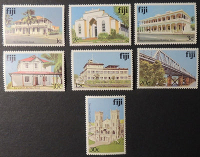 Fiji 1979 architecture 7 values MNH