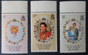 Solomon islands 1981 royal wedding charles diana 3v MNH