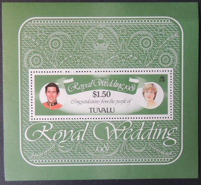 Tuvalu 1981 royal wedding miniature sheet 1v  MNH