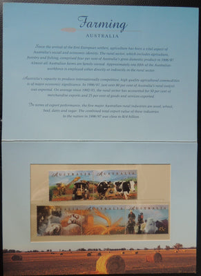 AUSTRALIA Farming Booklet 6 stamps MNH good (see scans)