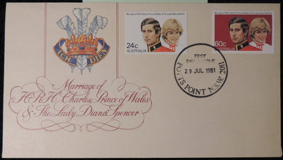 Australia 1981 FDC royal wedding charles diana good used
