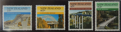 New Zealand 1985 scenic bidges MNH