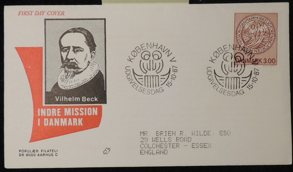 Denmark 1987 FDC 25th anniversary clerical association religion good used