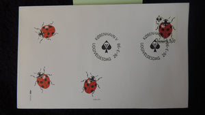 Denmark 1998 FDC environment chemicals ladybird insects  good used