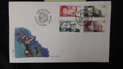 Denmark 1999 FDC 150th anniversary danish revue comedy drama entertainment good used